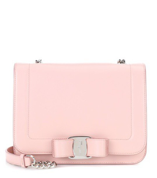 rainbow bag shoulder bag leather pink