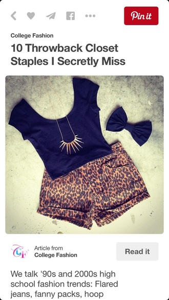 shorts short denim denim shorts leopard print summer top summer style fashion