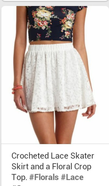 skirt white skirt & lace ? lovely i must have it *-* help?!?!