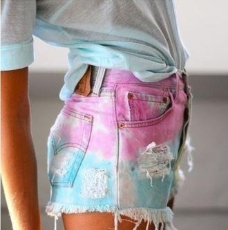 shorts pants color/pattern tumblr clothes high waisted shorts cut offs pastel short hipster summer