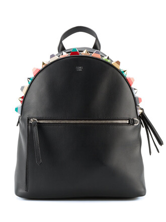 embellished backpack leather black bag