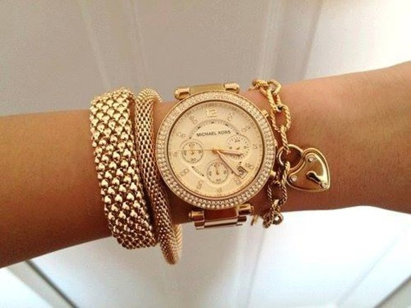 jewels clock michael kors
