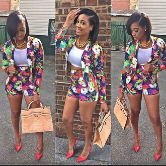 jumpsuit white green pink yellow black floral orange purple chanel chanel t-shirt sweater floral skirt