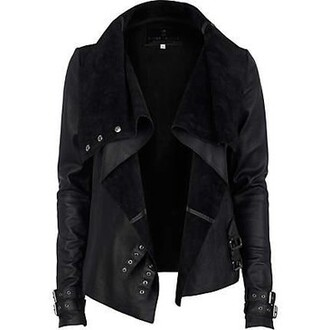 jacket black leather leather jacket clothes leather