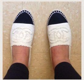 Chanel Espadrilles: Flats & Oxfords | eBay