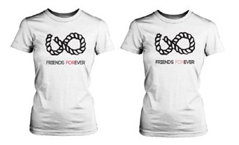 Amazon.com: Infinite Forever Friendship Shirt (Two Women Shirt): Clothing