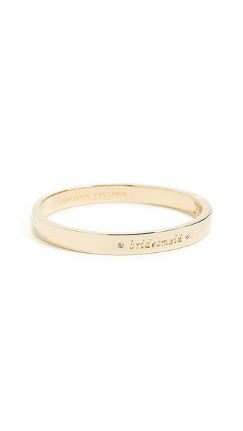 Kate Spade New York Her Day to Shine Bridesmaid Bangle in gold / clear