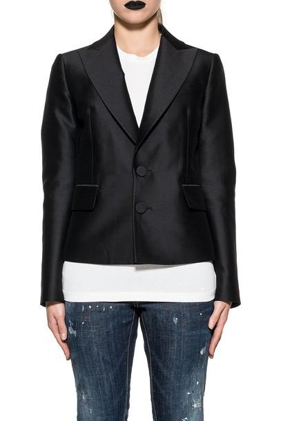 Dsquared2 blazer black silk wool jacket