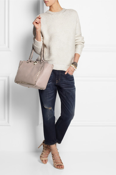Valentino | The Rockstud medium leather trapeze bag | NET-A-PORTER.COM