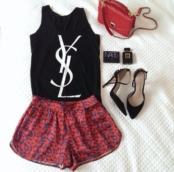 shirt ysl tshirt t-shirt black cool shirts cute outfits shorts shoes