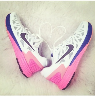 shoes nike nike running shoes pink girly running training fitness workout