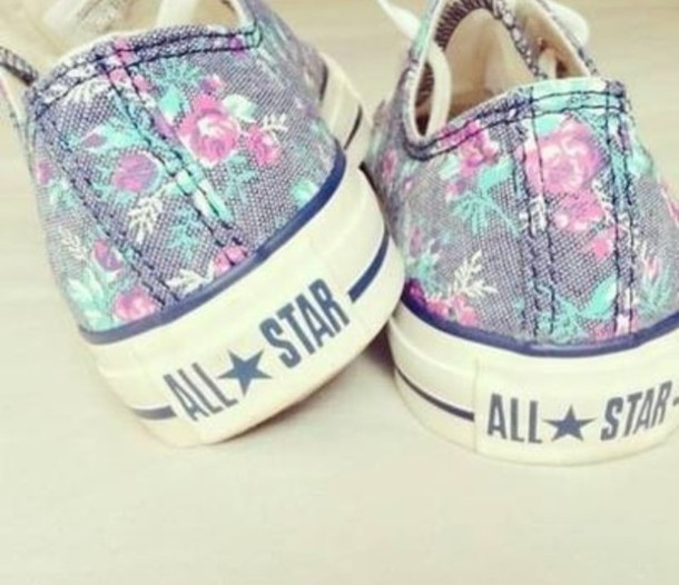 shoes converse converse flowers allstars taylor chucks floral