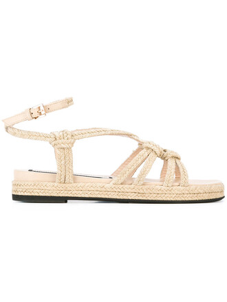 women braided sandals flat sandals leather nude shoes