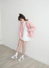 jacket,pink,pink jacket,pastel,pastel pink,spring,spring outfits,kfashion,asian fashion,asian,coat,love,lovely,cute,light pink,urban pastel pink,korean fashion,white