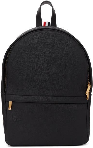 Thom Browne backpack leather black black leather bag