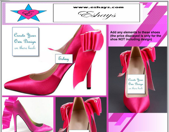 prom shoes wedding pumps www.eshays.com pink shoes pink bow pink bow shoes pink bow pumps prom pumps