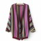 Boho ethnic colorful wave stripe knit top blouse sweater cardigan s m tfl | ebay