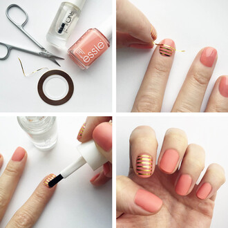 passions for fashion blogger essie nail polish coral stripes