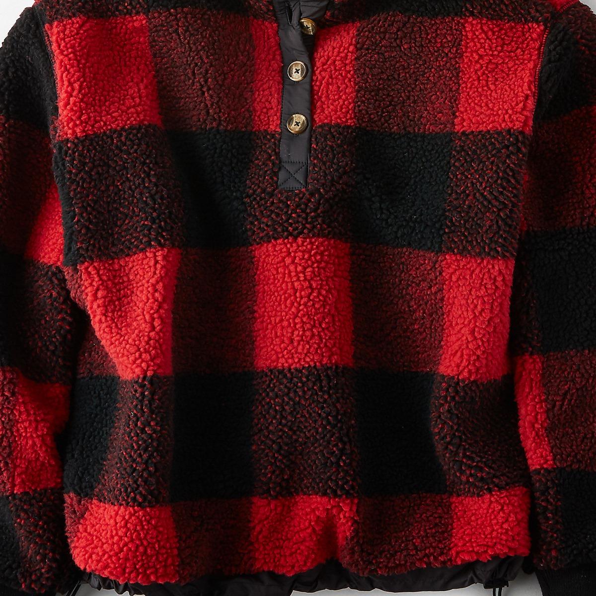 AEO Fuzzy Sherpa Popover Jacket