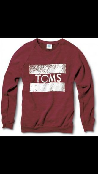 sweater burgundy toms