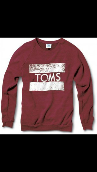toms burgundy sweater