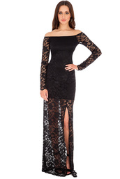 dress,lace,maxi,mini,celebrity,black,oyster,blue