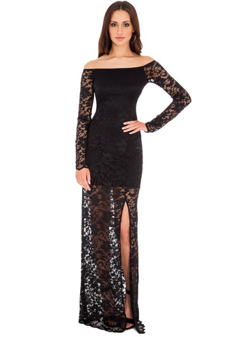 dress lace maxi mini celebrity black oyster blue