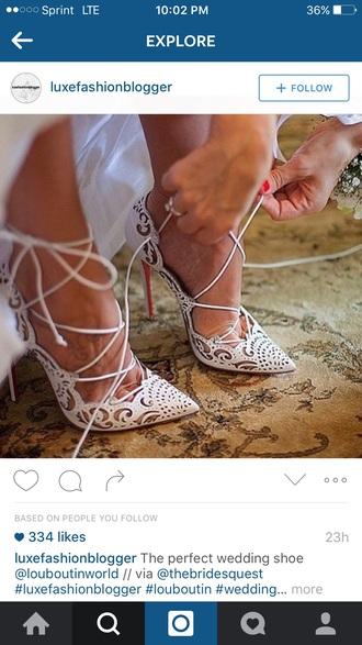 shoes louboutin wedding shoes