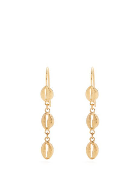 Isabel Marant shell triple earrings gold jewels