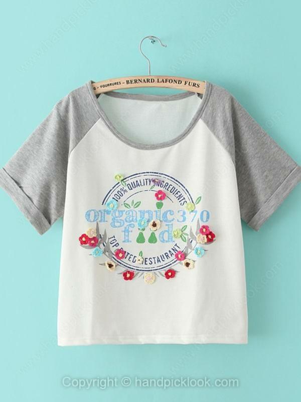 t-shirt print top handpicklook printed t-shirt printed t-shirt letter printed t-shirt embroidered sweatshirt handpicklook.com