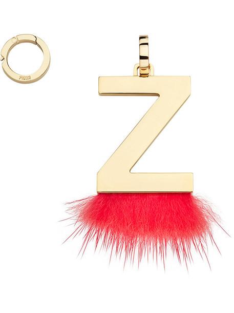 Fendi fur women pendant red jewels