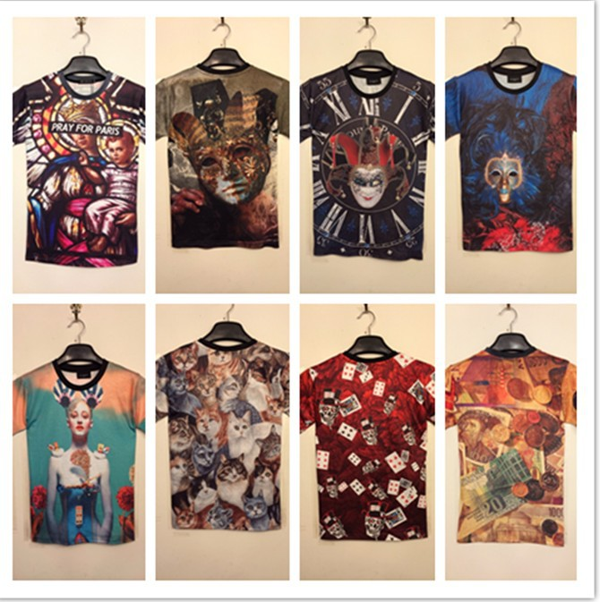 Free Shipping 2014 Hot Sale Men Pray For Paris Medusa Smugglers Egyptian Sculpture Pharaoh Crown Harajuku Hip hop T shirt-in T-Shirts from Apparel & Accessories on Aliexpress.com