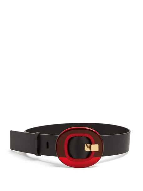 MARNI belt waist belt leather black