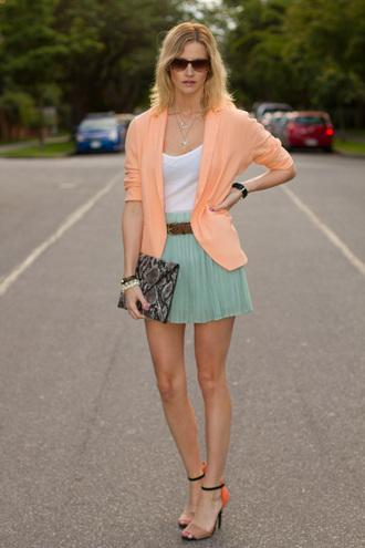 styling my life jacket t-shirt skirt shoes bag jewels sunglasses