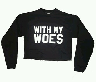 sweater drake crop tops crewneck