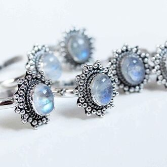 jewels shop dixi gypsy boho bohemian hippie grunge jewelery jewelry moonstone ring sterling silver