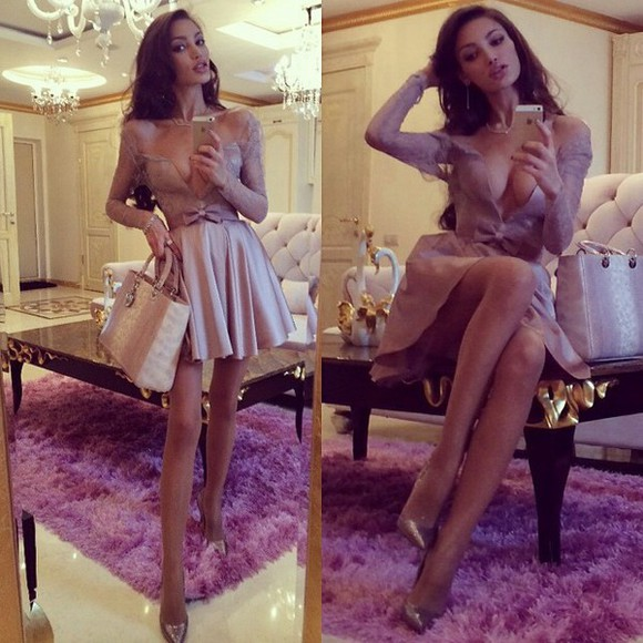 dress bows lace dress