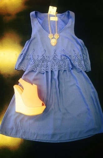 dress blue dress light blue romper no sleeves
