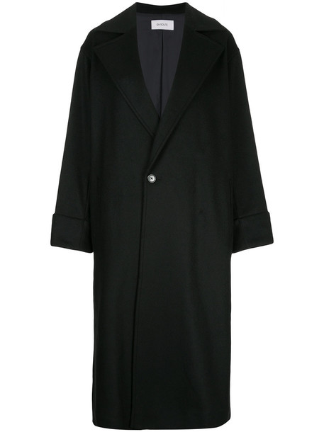 overcoat oversized women black wool coat