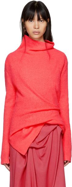 SIES MARJAN turtleneck pink sweater