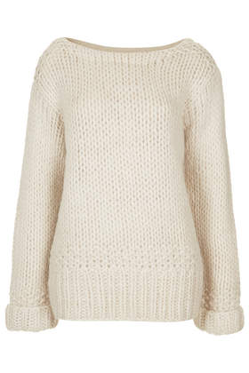 **Slouchy Handknit Jumper by Unique - Unique  - Clothing  - Topshop