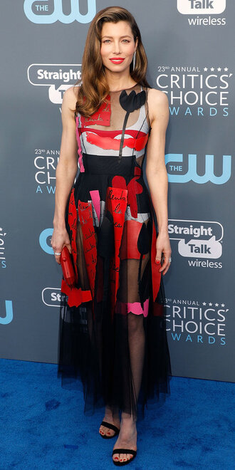dress gown prom dress sandals red carpet dress jessica biel shoes see through dress asymmetrical print