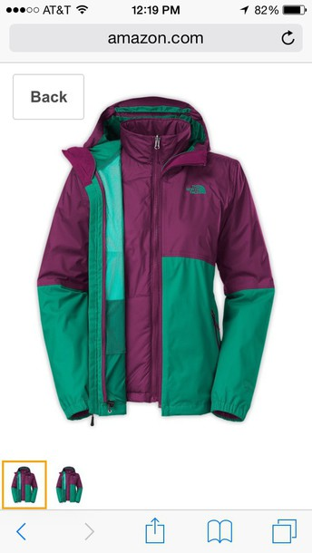 coat north face fanfare green jacket tri climate north face