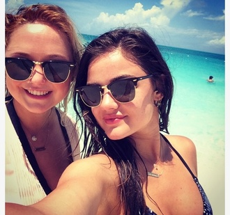 sunglasses lucy hale rayban beach summer outfits