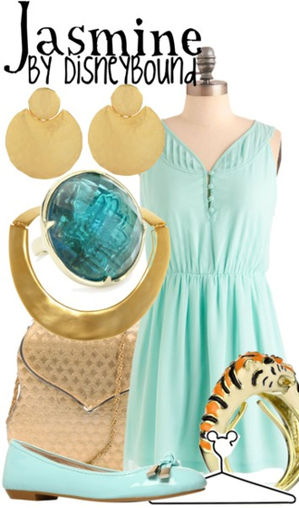 dress teal dress disneybound