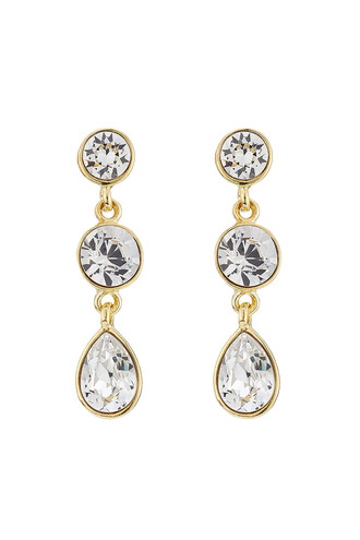 embellished earrings white jewels