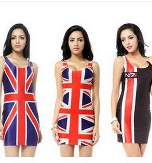 2014 new summer British MiZiQi red bule sleeveless dress slim package buttocks hip vest dress mini dresses free shipping | Amazing Shoes UK