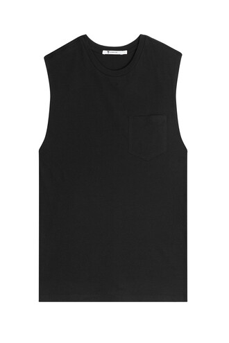 tank top top cotton black