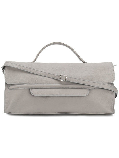 Zanellato - long pebbled tote - women - Leather - One Size, Grey, Leather