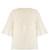 Lace-bib silk crepe de Chine top